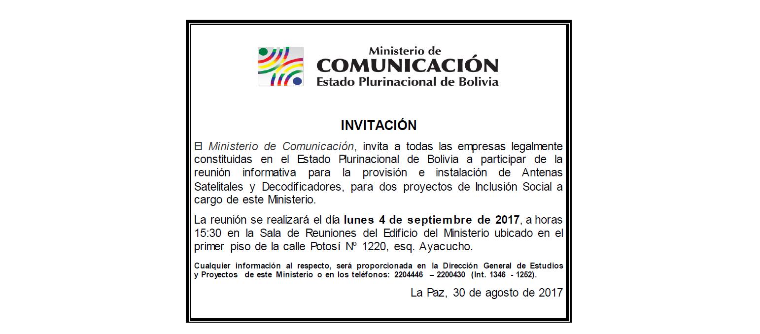 Ministerio de comunicaci n bolivia sitio oficial del for Ministerio del interior pagina oficial
