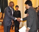 Embajador y el presidente Evo Morales