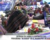 Presidente Evo Morales entregando recursos en Potosí