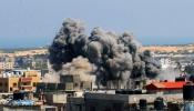 Bombardeo en Palestina