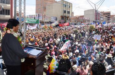Morales: 17 de octubre es culminación de larga lucha por dignificar Bolivia y recuperar recursos naturales
