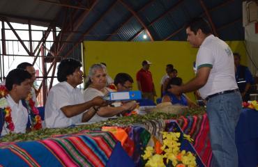 Organizaciones sociales de Pando presentan proyectos al presidente Morales