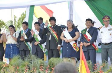 Morales realza actos en homenaje a los 111 años de la batalla de Bahía, en Pando