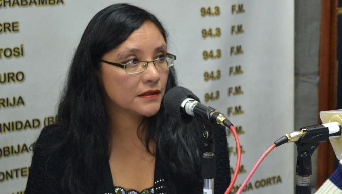 Viceministra de Políticas Comunicacionales, Claudia Espinoza,